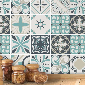 Adesivo azulejo cozinha azulejo grego (50cmx50cm)