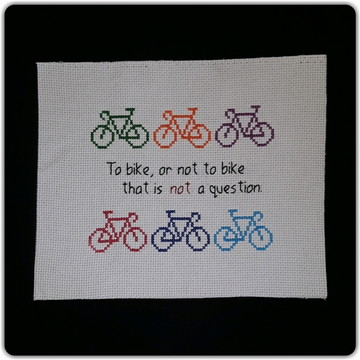 """To bike or not"" coloridas (somente o pano)"