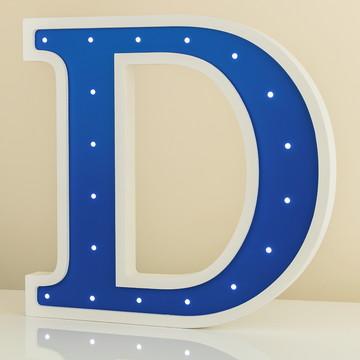 Luminária letra duas cores de MDF