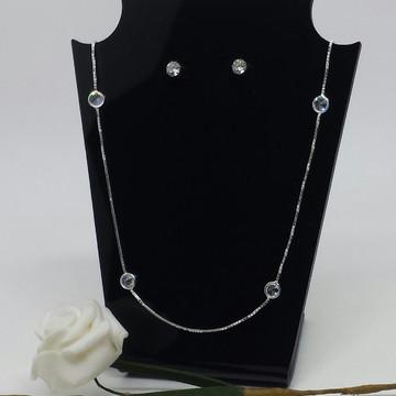 Corrente de prata com zirconias brancas