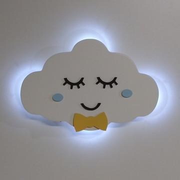 Nuvem com led e rostinho de menino decoração bebe