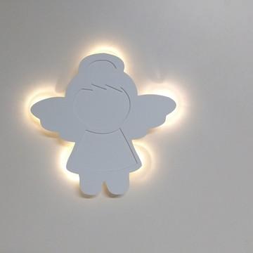 Anjo com luz de led decoração porta de maternidade