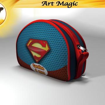Necessaire Super Homem 20cmx12cm