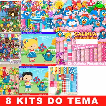 Kit Digital Galinha Pintadinha Mini Rosa Normal