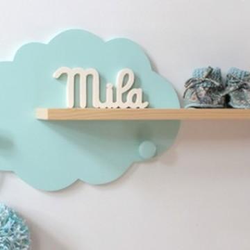 Nuvem prateleira de parede para quarto de bebe