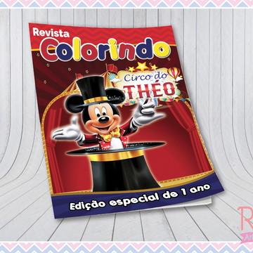 Livrinho de Colorir Circo do Mickey