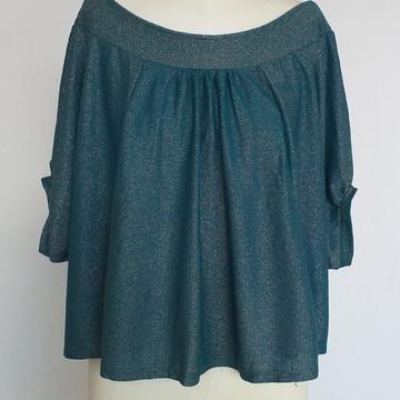 Blusa estilosa tricô