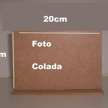 PORTA RETRATO 20X20 SIMPLES PARA FOTO COLADA, COM BASE