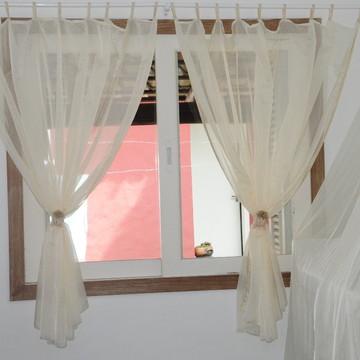 Cortina para quarto de bebê, tecido voil