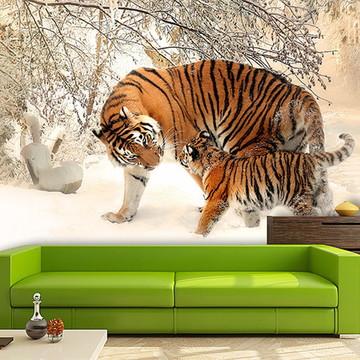 Papel de Parede para Sala Animais 3D 0031