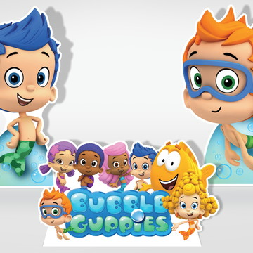 Cenário de Festa Infantil Bubble Guppies