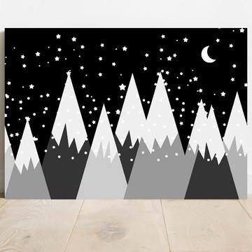 Quadro decorativo placa mdf montanhas noite 011