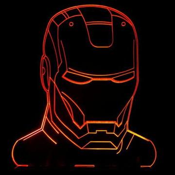 Homem de Ferro Luminária - Presente Criativo
