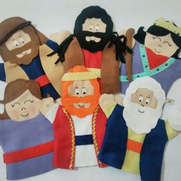 Kit com 6 Fantoches - Personagens Bíblicos