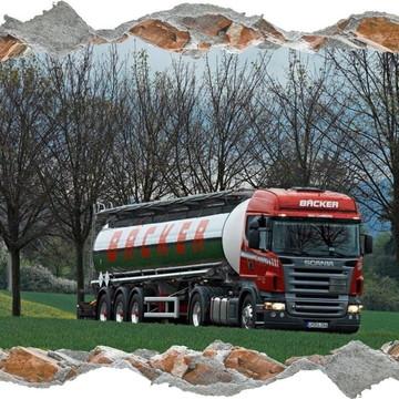 Adesivo Parede Quebrada Decoração Caminhão Scania Truck