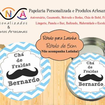 Rótulo Latinha: Bigode - Mustache