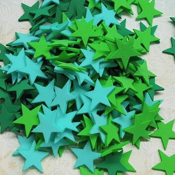 100 recortes estrelas em E.V.A - 2 cm
