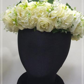 Coroa de flores Nice Boho Off white