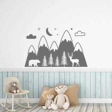 Adesivo Decorativo Montanhas Baby