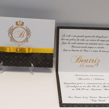 Convite Coroa 15 anos