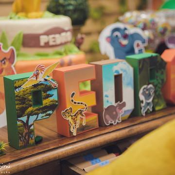 Letra 3D A Guarda do Leão