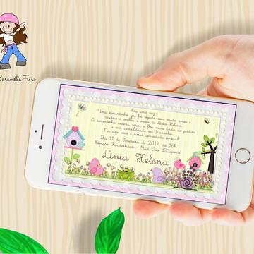 Convite Digital Jardim Encantado