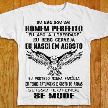 Camiseta Não Sou Um Homem Perfeito