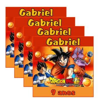 30 Rótulo Adesivo Dragon Ball Z 4 cm