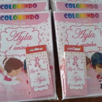 10 Cadernos Para Colorir Personalizado