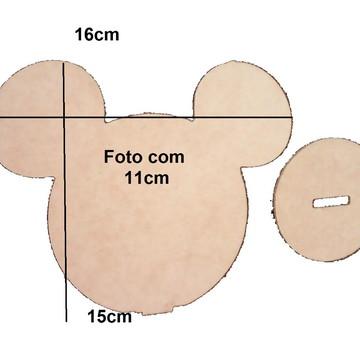 PORTA RETRATO MICKEY SIMPLES PARA FOTO COLADA, COM BASE