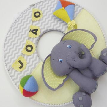 Enfeite de Porta Maternidade Elefante