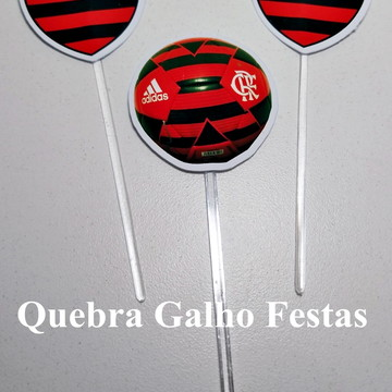 Topper doces Flamengo - Pct com 10