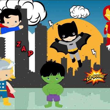 Painel de Festa Super Herois 10