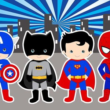 Painel de Festa Super Herois 11