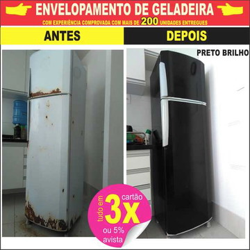 Envelopamento geladeira - QUER ECONOMIZAR -