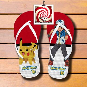 Chinelo Lembrancinha Personalizada Tema Pokemon