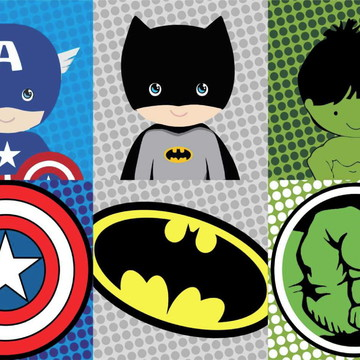 Painel de Festa Super Herois 12