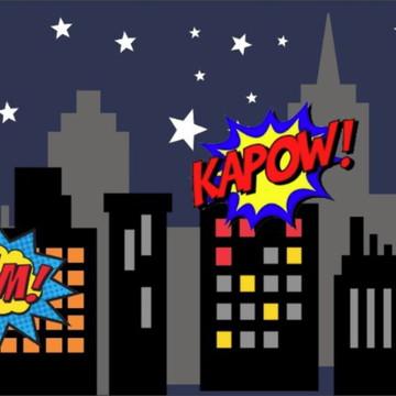 Painel de Festa Super Herois 14