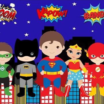 Painel de Festa Super Herois 15