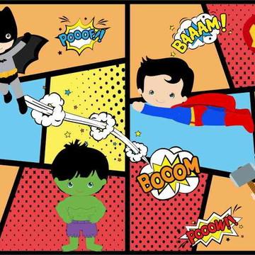 Painel de Festa Super Herois 16