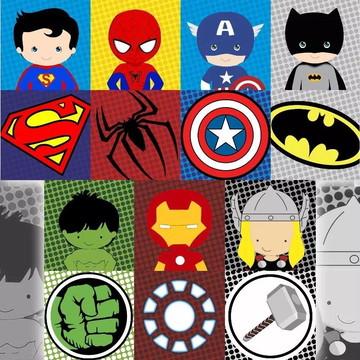 Painel de Festa Super Herois 17