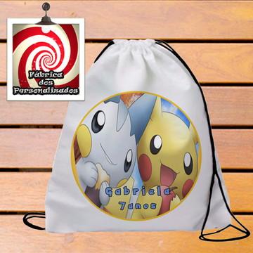 Mochilinha Personalizada Festa Tema Pokemon