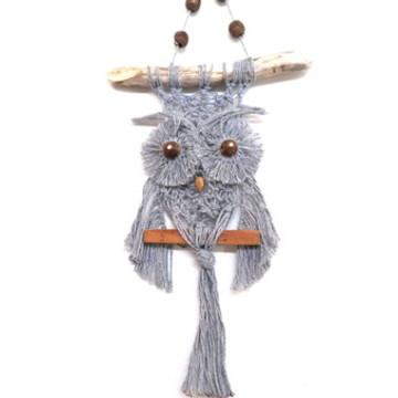 Coruja em Macramê - Decoração de casa