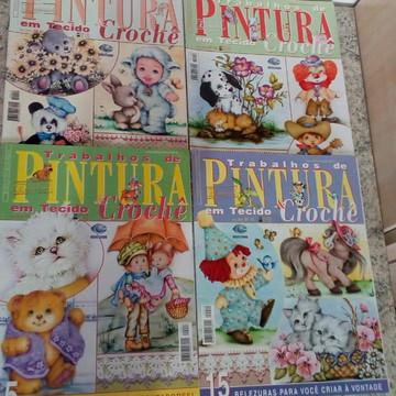 coleção de revistas de pintura em tecido