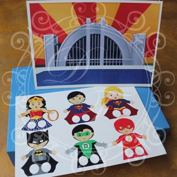 Lembrança Infantil - Dedoches Liga da Justiça