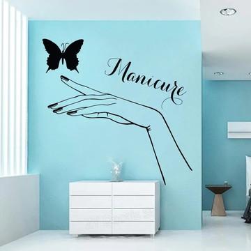 Adesivo Decorativo Manicure Mão Borboleta