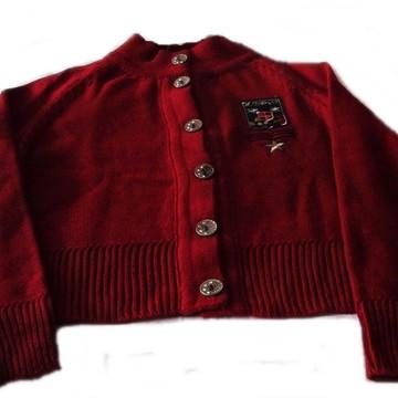 blusa jaqueta lã tricot bordada