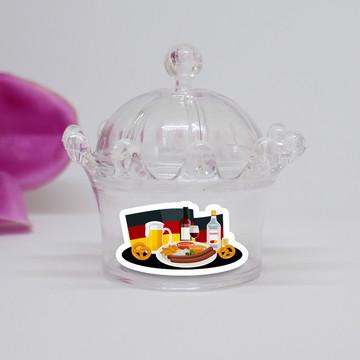 Mini-coroa com aplique - Alemanha comida