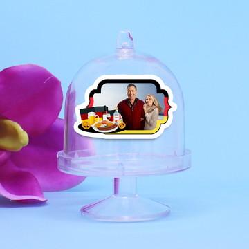Mini-cúpula com aplique com foto - Alemanha comida