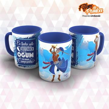 Caneca Azul Ogum 01